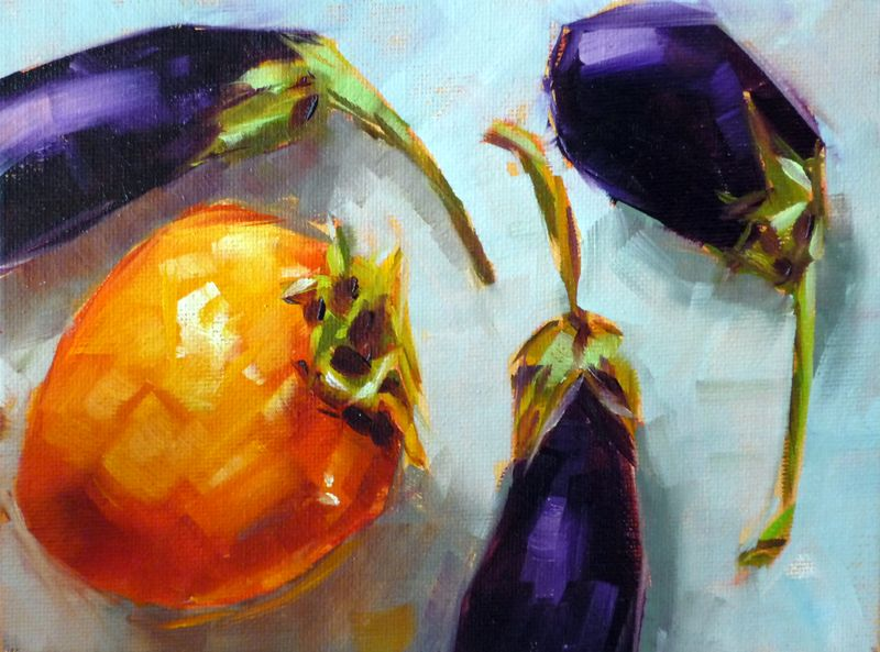 Persimmon with eggplant2