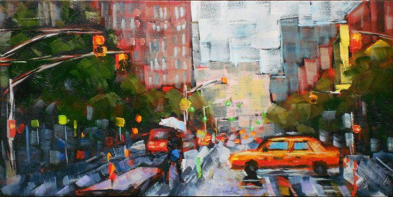 NYC cab 6 x 12