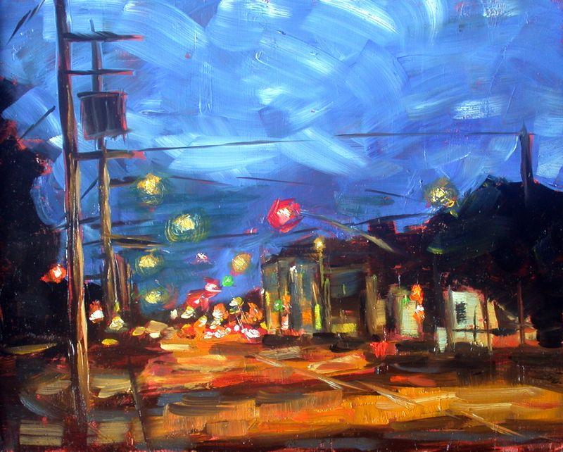 J Street at night